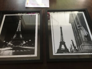 2 Paris Theme Prints for Sale with Frame