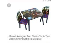 Avengers kids table and chairs