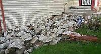 Concrete removal,  weeping tile, window jams, grading