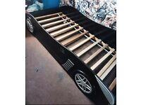 Black car bed frame