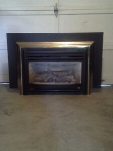 used natural gas fireplace insert