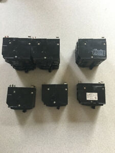 Square D QO Used Push In Breakers $80.00 for lot