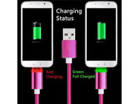 Dual LED Light Micro USB Charger Cable