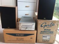 Teac stereo and gale speakers - very good condition. Can be sold separately.