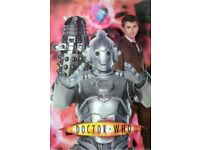 Holographic Doctor Who Poster (David Tennant-2006) Features: Cyberman, Dalek, Tardis and 10th Doctor