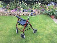 Lightweight wheeled mobility Walking frame & seat rollator