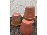 Earthenware frost proof terracotta pots