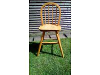 Lovely solid pine tall children stool