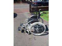 Wheel chair aluminum folding
