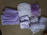 70 + LILAC AND LAVENDER CHAIR SASHES PLUS OTHER ACCESSORIES