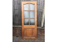 Pine Internal Door with Opaque Glass Panels