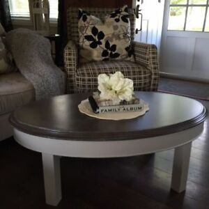 Refreshed, small oval coffee table