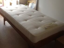 Quality Wooden solid pine bed and Relyon mattress