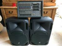 Samson 900w PA with Stidio Line 400w speakers