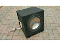 """Alpine 12"""" subwoofer in ported box SWS1242D dual 4 ohm voice coils 900W"""
