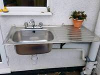 Sink with brackets