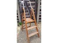 Vintage Wooden Step Ladder - Display - Interior Design - Upcycle - Florist