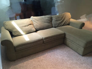 green comfortable couch
