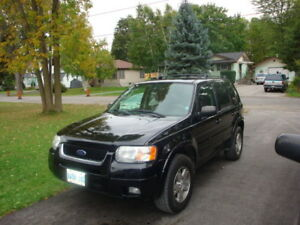 2003 FORD ESCAPE LTD., BLACK 4x4