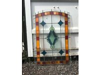 Stained Glass Art Deco Leaded Window 79x109cm