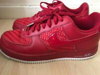 Red Nike Air Force