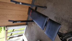 Workout Bench and weights