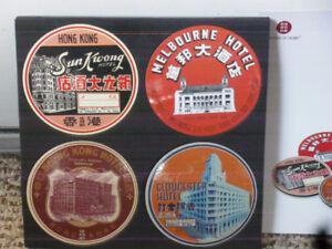 Vintage Hotel coasters