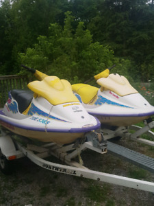2 95 seadoo xp 720 with double trailer