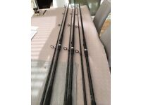 3 shimano carp rods