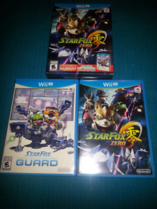 Nintendo WiiU Game Star Fox, wiimotes etc