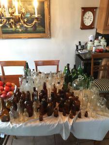 Veille bouteilles antique en vitre