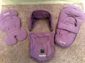 Maxi Cosi Apple Flavour Pack and Footmuff in Grape