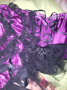 Asian size 6x corset and thong sets and lingerie