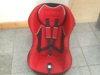 Lightweight group 1 car seat for 9kg to 18kg(9mths to 4yrs) in Ferrari Red -reclines,washed&cleaned