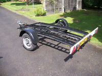 three bike motorcyle trailer, solid construction