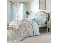 Dorma Maiya Duck egg Reversible quilted bedspread For Kingsize or Superking