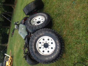 Ford 8x170 wheels and 285/75-16 duratracs