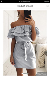 Ladies off shoulder dress