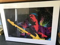 Framed prints of Jimi Hendrix & The Beatles