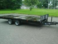 Ifor williams flat bed trailer 16x6.6 no vat
