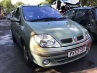 2003 Renault Megane Scenic 1.6 Petrol 5dr Green Breaking For Spares