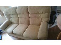 Fantastic beige 3 seater sofa