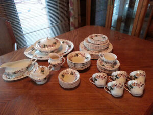 Old Chelsea China Pattern 53-pc set Dining & Serving Dishes