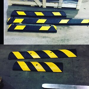 Car stopper and speed bumps  wow!