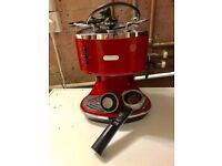DeLonghi Espresso Machine Red £75