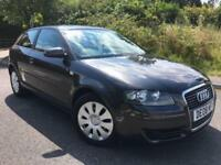 2008 08 AUDI A3 1.6 SPECIAL EDITION 8V 3DR 102 BHP IN GREY METALLIC, GENUINE 83K