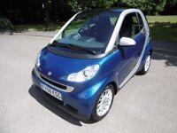 Smart Car Fortwo Coupe PASSION FULL SERVICE HISTORY (silver/blue metallic) 2008