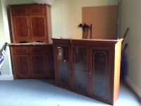 Two matching dining room cabinets.