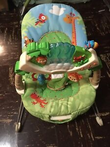Bouncy chair and baby toy