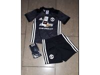 Brand New with Tags Black 2017 Man Utd Kit toddlers size 2-3 years